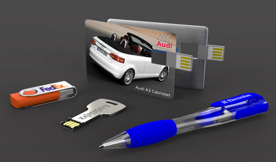 branded usb flash drives for client gifts